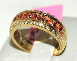 Yellow Sapphire & Diamond Band in 14kt Yellow Gold