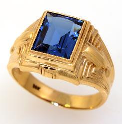 Vibrant Blue Topaz Ring, Size 9.5