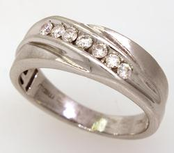 Diamond Band in White Gold, Size 8.25