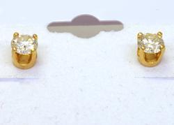Pair of Diamond Post Earrings in Gold