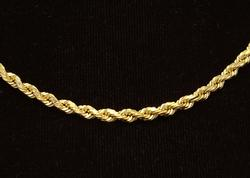 Heavy Gold Rope Chain, 20in