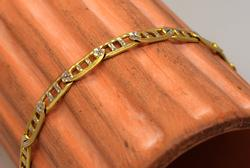 Two-Tone Gold Bracelet, 7.25in