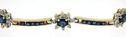 Gorgeous Flower Sapphire w Diamond Station Bracelet