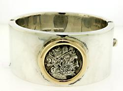Silver and Coin Ancient Coin Bangle