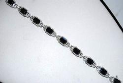 Stunning Sapphire & Diamond Bracelet, 14kt