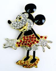 3 Inch Minnie Mouse Rhinestone Pin