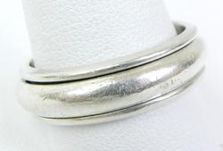 Men's Solid Sterling Silver Spinner Ring, Size 13