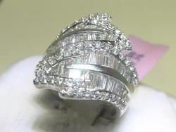 3.00 CT Diamond Ring in 14kt White Gold