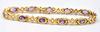 Enchanting 14kt Gold 5.00 Carat Amethyst Bracelet