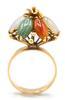 14kt Solid Gold Jade Cocktail Ring