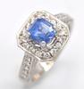 Beautiful 18kt Gold Blue Sapphire & Diamond Cocktail Ring