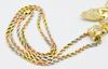 Sweet Heavy & Glowing Solid Tri Colored Gold Necklace
