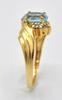 14kt Gold Sky Blue Topaz & Diamond Ring