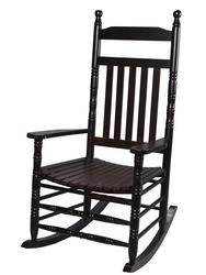 Gift Mark Deluxe Adult Extra Tall Back Rocking Chair Espresso