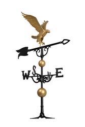 White hall 46 Eagle Weathervane - Gold-Bronze