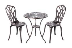 Theon Antique Bronze 3pc Bistro Set