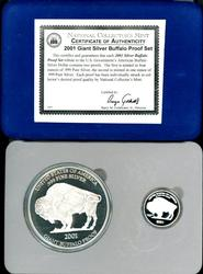 2001 Giant Silver Buffalo PR Set (Nat Collector's Mint)