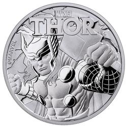 2018 Tuvalu 1 oz Silver $1 Marvel Series THOR Coin