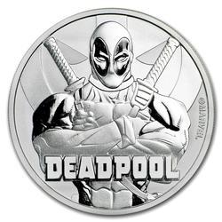 2018 Tuvalu 1oz Silver $1 Marvel Series Deadpool