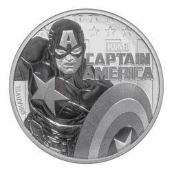 2019 Tuvalu 1oz Silver $1 Marvel Series Captain America
