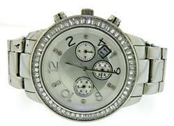 Silpada Silver CZ Chronograph Wrist Watch