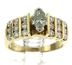 Beautiful Marquise with Channel Set RBC Diamond Ring