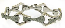 Gorgeous Link Bracelet with Sparkle Texture