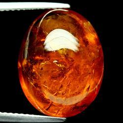 Glistening 16.77ct fiery red orange Spessartite Garnet