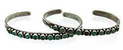 Set of 2 Turquoise Bangel Bracelets