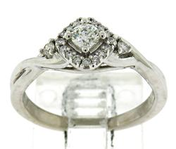 Amazing Diamond Ring w Halo 2 Sides Diamonds