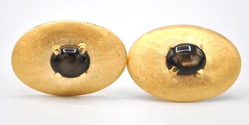 14kt Yellow Gold Gemstone Cufflinks