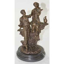Women Men Marriage proposal Western Art Bronze