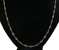 Nice Multi Gemstone Marquise Necklace