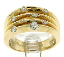 Lovely 4 row Diamond Ring