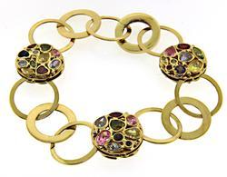 Gorgeous 18kt Multi Gemstone Bracelet
