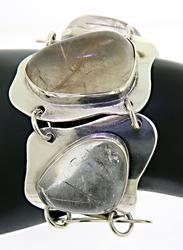 Rutilated Quartz Sterling Silver Bracelet