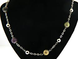 Multi Color Bead Station Necklace