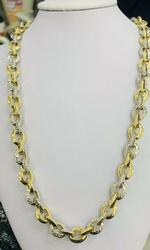 Fancy One-of-a-Kind Handmade 18kt Gold Chain Necklace