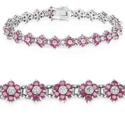 Beautiful 7 Carat Ruby & Diamond Bracelet