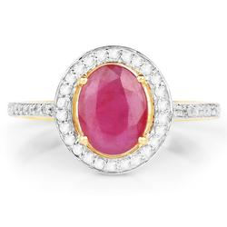 Ruby & Diamond Ring in Solid Yellow Gold
