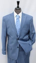 Stylsih Pinstripe Suit by Galante, Made in Italy