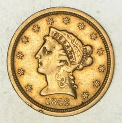 1842-O $2.50 Liberty Head Gold Quarter Eagle