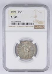 XF45 1921 Standing Liberty Quarter - Graded NGC