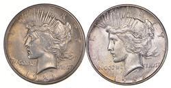 Lot (2) 1921 & 1928-S Peace Silver Dollars