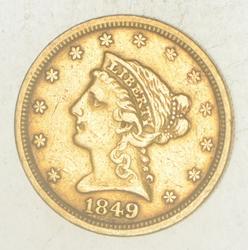 1849 $2.50 Liberty Head Gold Quarter Eagle