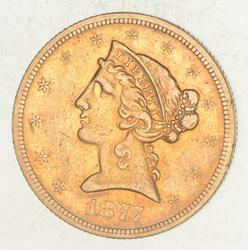 1877-S $5.00 Liberty Head Gold Half Eagle