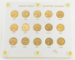 Complete Set 1908-1929 $2.50 Indian Head Gold Quarter Eagles