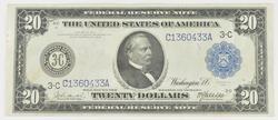 1914 $20 Federal Reserve Large Size Note - Philadelphia