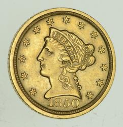1850-D $2.50 Liberty Head Gold Quarter Eagle