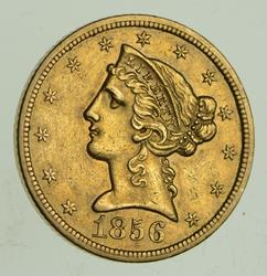 1856-S $5.00 Liberty Head Gold Half Eagle